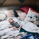 Wintery Lifestyle Newborn Session